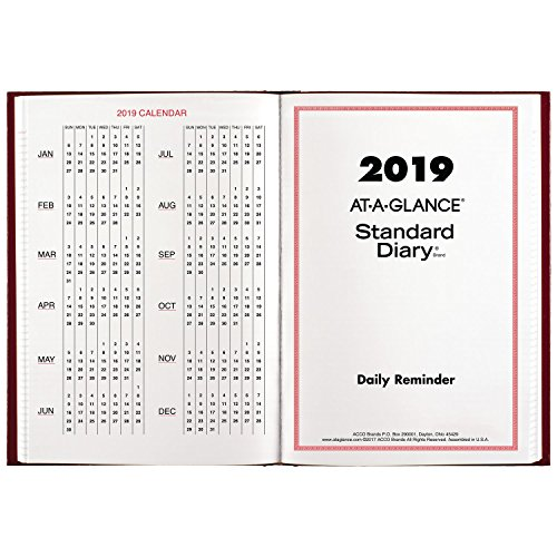 Brands Acco Planner (at-A-Glance Standard Diary, January 2019 - December 2019, 5-1/8