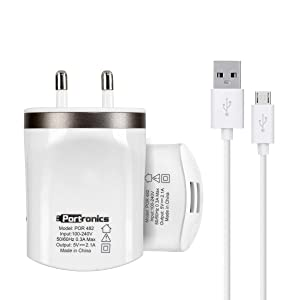 Portronics POR 482 Dual USB Charger (White)