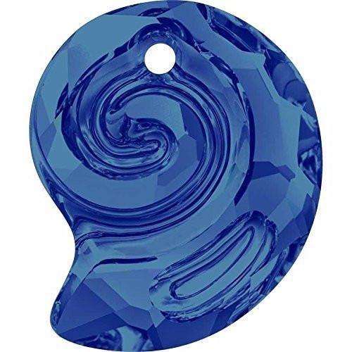 6731 Swarovski Pendant Snail - Designer Edition | Crystal Bermuda Blue | 14mm - Pack of 36 (Wholesale) | Small & Wholesale - Crystal Mm Bermuda 14