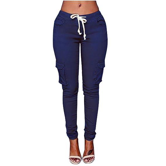 Gusspower Pantalones de Mujer Cargo Pantalones Multi-Bolsillo Moda Casual  Talla Grande Polainas  Amazon.es  Ropa y accesorios f4b5b9f9249