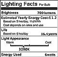 CRLight LED Edison Bulb Dimmable E26 Medium Base ST64 Vintage LED Filament Bulbs, 6W 10W 12W