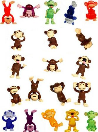Monkey Party Favors - Lot of 30 Variety (Monkey Pinata)