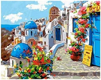 WACYDSD Puzzle 3D Puzzle 1000 Piezas Primavera En La Decoración De La Pared De Santorini DIY: Amazon.es: Juguetes y juegos