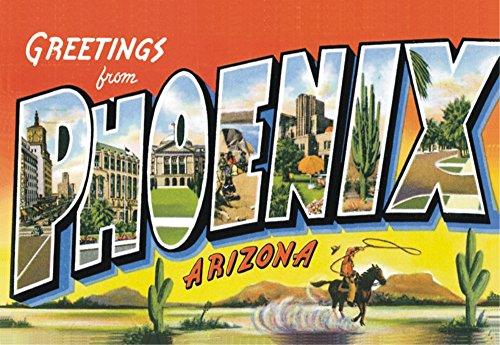 Greetings from Phoenix, Arizona, AZ, US, Souvenir Magnet 2 x 3 Fridge Photo - In Phoenix Airport Az