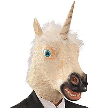 Carnival Toys Máscara de látex unicornio en bolsa con encabezado, multicolor (745)