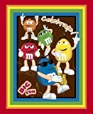 """Mars M & M CANDY 44"""" Wide Cotton Fabric Panel"""