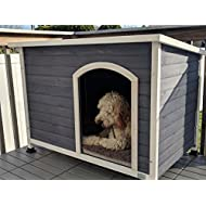 A4Pet Large Outdoor Dog House, Raised, Weather Protected, Easy to Clean