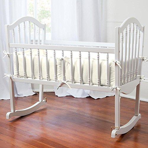 Carousel Designs Solid Ivory Cradle Bumper