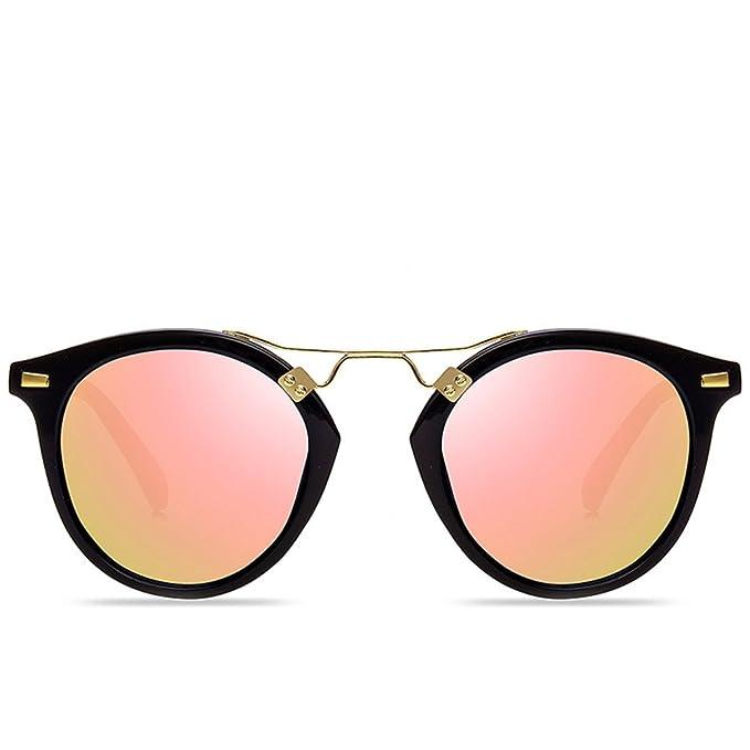 Espejo redondo señoras gafas de sol en lentes de color Oval ...
