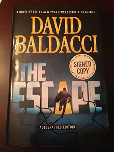 The Escape by David Baldacci Signed 1st Edition