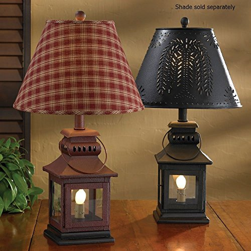 Country table lamps amazon park designs black iron lantern lamp aloadofball Images