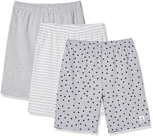 Kid Nation Girls' 3 Pack Stretch Cotton Bike Short X-Large Gray
