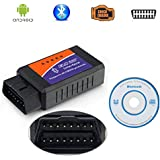 Kasstino Bluetooth ELM327 OBD2 II Car Auto Vehicle Testing Diagnostic Interface Adapter Scanner Reader