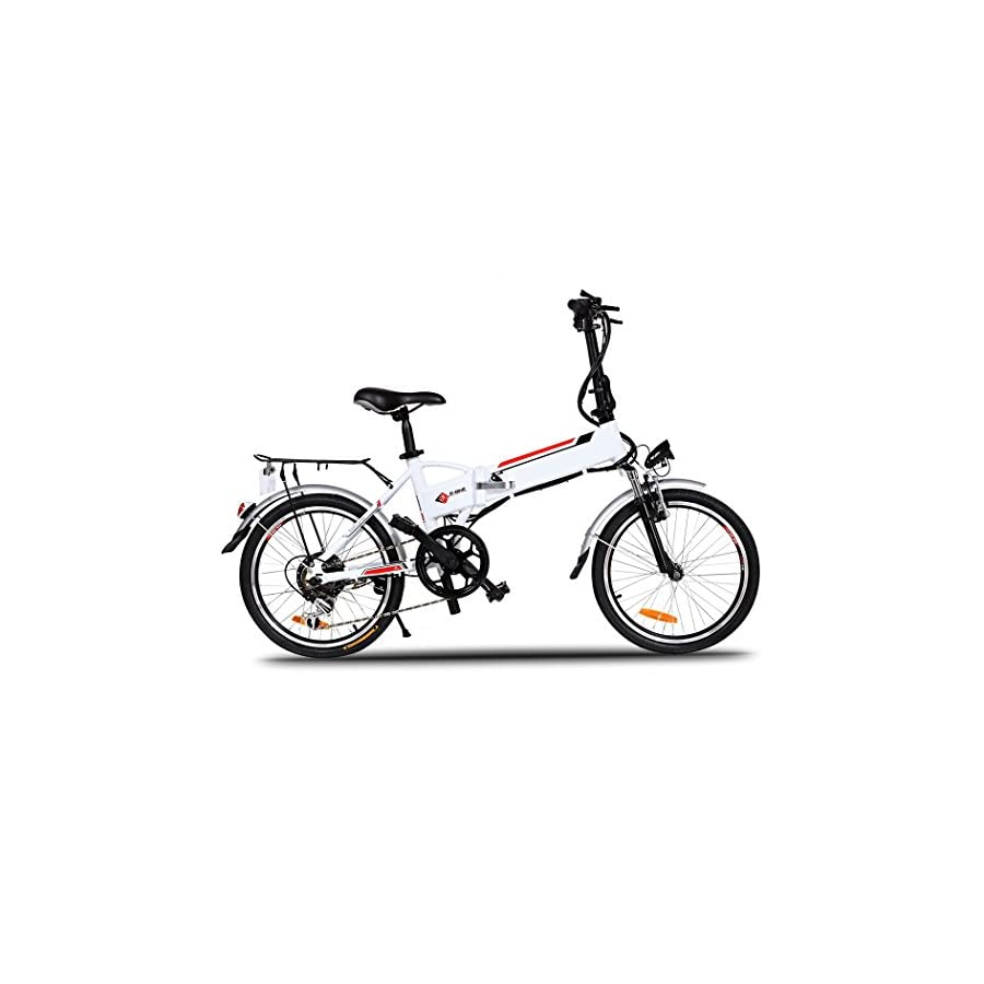 Cosway 2018 New In 250W FAST Lightweight Mini A bike Folding Mountain E bike for Adults with Lithium Ion Battery [US Stock]