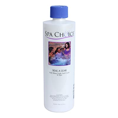 Spa Choice 472-3-5071 Seal a Leak Minor Cracks and Leaks Repairing Solution for Spas and Hot Tubs, 1-Pint : Hot Tub Shell Repair Kit : Garden & Outdoor