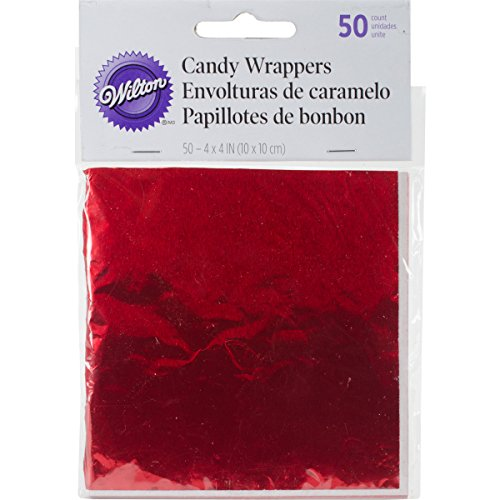 wilton-1904-1198-foil-wrappers-4-inch-by-4-inch-red-50-pack