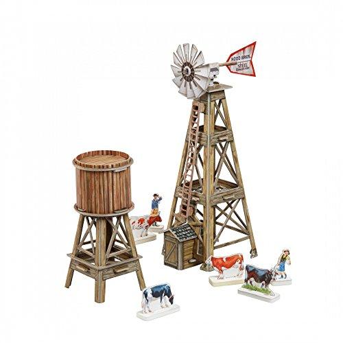 [해외]혁신적인 3D-퍼즐 - 윈드 펌프 - 와일드 웨스트 시리즈 Clever Paper 제작 (465) / Innovative 3D-Puzzles - The Windpump - Wild West Series by Clever Paper (465)
