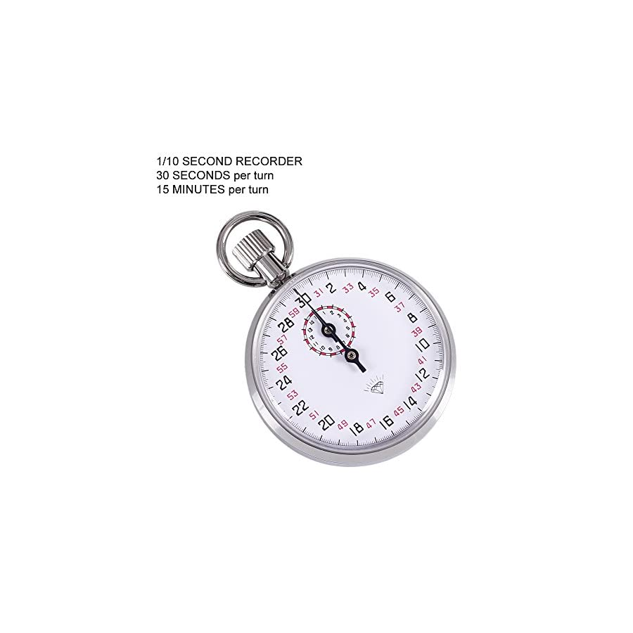 Diamond 504 Sport durable Mechanical Timer Stopwatch Analog Stopwatch 1/10 second recorder 6h extended running time with 13 jewels