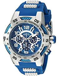 Invicta Mens Speedway Quartz Stainless Steel and Silicone Casual Watch, Color:Blue (Model: 24231)