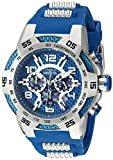 Invicta Men's 'Speedway' Quartz Stainless Steel and Silicone Casual Watch, Color:Blue (Model: 24231)