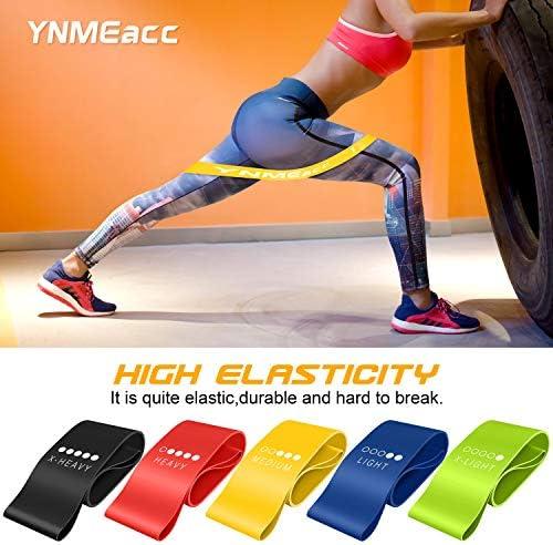 R/ésistance Band en Latex Naturel pour Musculation//R/é/éducation Physique//Pilates//Yoga Lot de 5 ANTOPM Bande Elastique Fitness, /Élastique de R/ésistance Latex Naturel Bande de Force