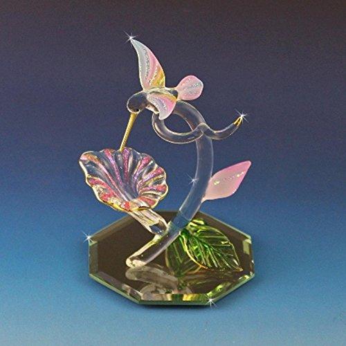 Handmade Glass Calla Lily Flower with Hummingbird - Sweet Nectar