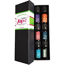 Top 6 Essential Oil Blends Gift Set for Diffuser - #1 Voted Christmas Gifts for Women, Girls, Mom, Wife, Her for Aromatherapy by Aviano Botanicals