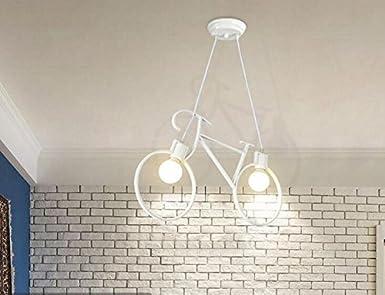 Amazon Xy Gk Industrialペンダントライトシェードレトロ自転車照明