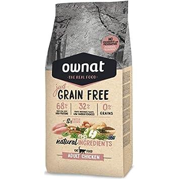 Optima Ownat Just Grain Free pienso para Gatos Adultos Pollo ...