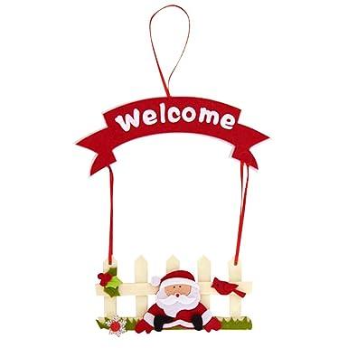 Weihnachtsdeko Klingel.Weihnachts Willkommen Tür Anhänger Dekoration Geburtstags Geschenk