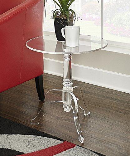 Linon Hadlee Acrylic Side Table, Clear