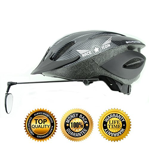 Race Icon Bike Helmet Mirror - Our Clear View Flat Lightweight Bicycle Mirror Is a Must Have for Any Road Cyclist + by Race Icon (Image #6)