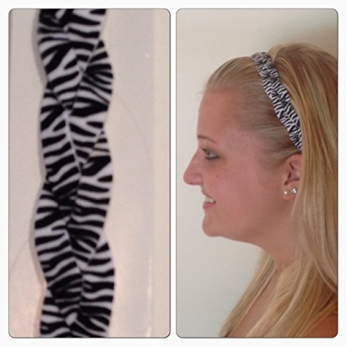 Fabulicious Zebra Zebra Zebra Braided Headband - NON SLIP Sports Headband -