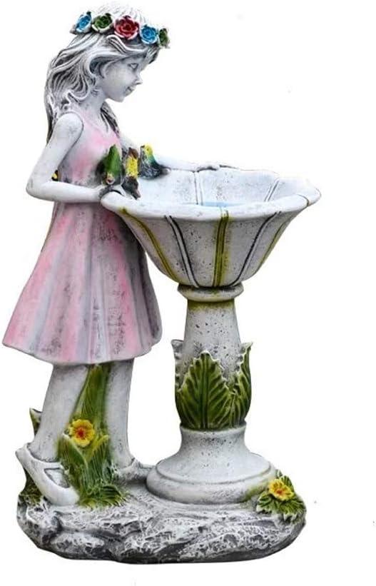 Flower Fairy Solar Decoration Resin Garden Statue,Solar Power Yard Outdoor Sculpture,Waterproof Garden Ornament Angel Garden Figurines,Creative Micro Landscape Crafts,Fairy Garden Ornament