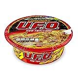 Nissin Pasta Precocida UFO, Sabor Res Teriyaki, 12 Piezas