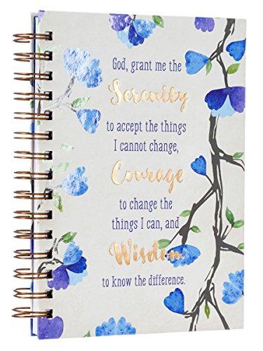 Watercolor Collection Serenity Prayer Hardcover Wirebound Journal ()