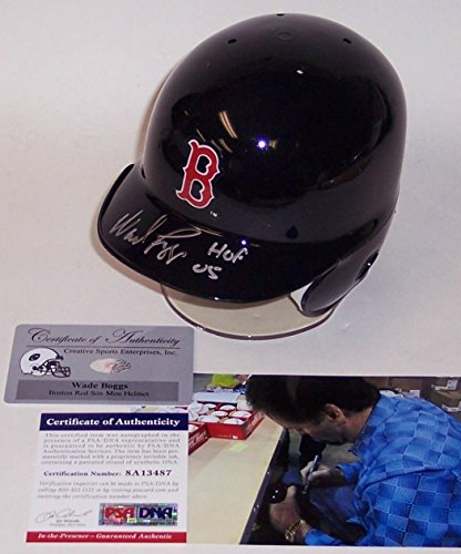 Wade Boggs Autographed Hand Signed Boston Red Sox Mini Helmet - PSA/DNA Certified - Autographed MLB Mini Helmets (Helmets Mlb Mini Autographed)