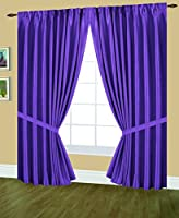 Editex Home Textiles Elaine Lined Pinch Pleated Window Curtain, 48 by 63-Inch, Lilac