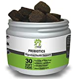 ZPAW Dog Probiotics | Canine Digestive Enzymes For Dogs Probiotic Supplements for Dogs with Natural Digestive Enzymes for Small Breed Dogs with Diarrhea Poor Intestinal Health 30 Treats Soft Chews