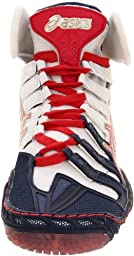 ASICS Men\'s Omniflex Pursuit Wrestling Shoe,Navy/White/Red,10.5 M US