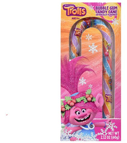 Trolls Bubble Gum Flavored Candy Cane