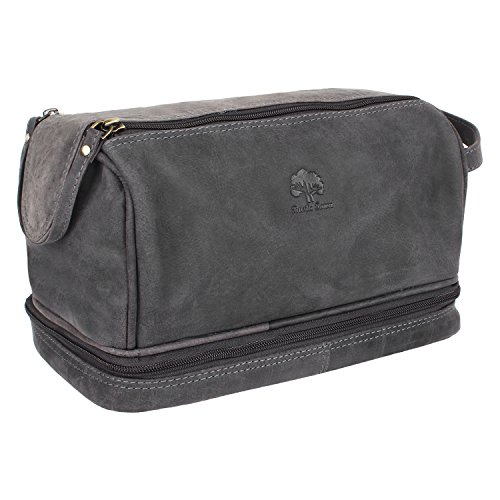 Leather Toiletry Travel Shaving Organizer