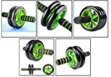 Fitwhiz Ab Roller Wheel, Exercise And Fitness Wheel With Easy Grip Handles For Core Training And Abdominal Workout (Green)
