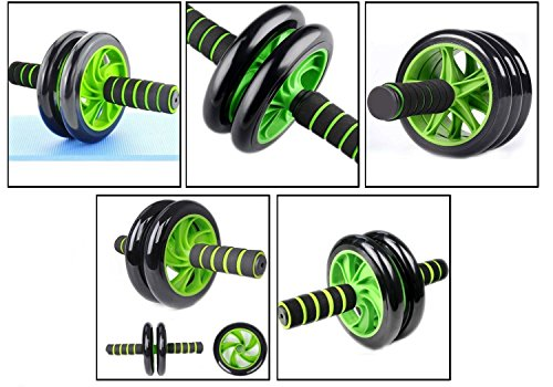 Fitwhiz Abs Roller Wheel, Exercise and Fitness Wheel with Easy Grip Handles for Core Training and Abdominal Workout – Comes with Free Knee mat.