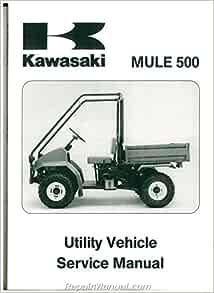 99924-1146-02 1990 ? 2004 Kawasaki KAF300A Mule 500 520 550 UTV Service  Manual: by Author: Amazon.com: Books Amazon.com