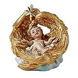 Baby Jesus Christ in Angel Wings Manger Figurine, 2