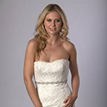 Top Hot Seller~bridal Sash-white Sash-bridal Rhinestone Sash, Wedding Gown Sash, Couture Brides Belt, Beaded Bridal Sash, Art Deco Gown, Wedding Gown Belt, Couture Brides Sash