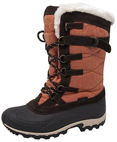 Orange Kamik Boot Women's Snowvalley Brown tqRw0nqr