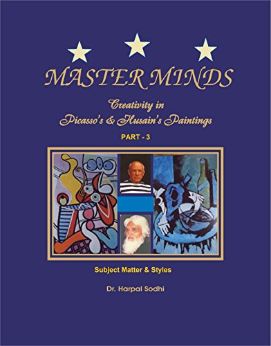 Master Minds: Creativity in Picasso's & Husain's Paintings. Part 3: Subject Matter & (Picasso Mixed Media)