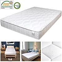 Yescom 10 Encased Coil Pocket Spring Bed Mattress CertiPUR-US Certified Memory Foam Full Size